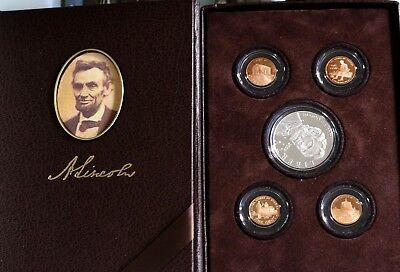 2009 US Lincoln Coin & Chronicles Proof Set - Silver Dollar $ 4 Proof Pennies