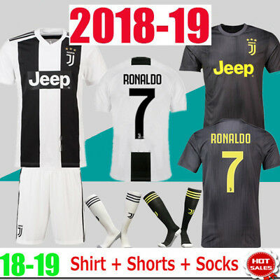 18/19 Football Jersey Authorized White Home Kit for Kids 3-14 Boys Suit & Socks