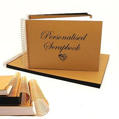 Personalised Text Scrapbook: Craft Cover in A4 and A5 with Choice of Fonts