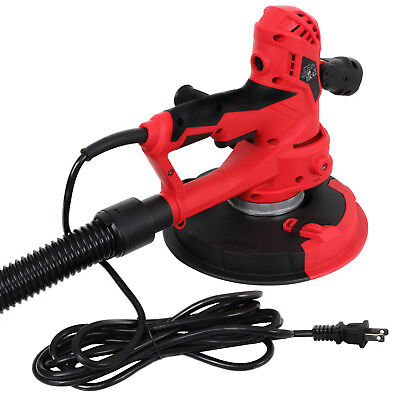 750W Hand Held Variable Speeds Vacuum Drywall Disc Sander W/LED Light, 6 Discs