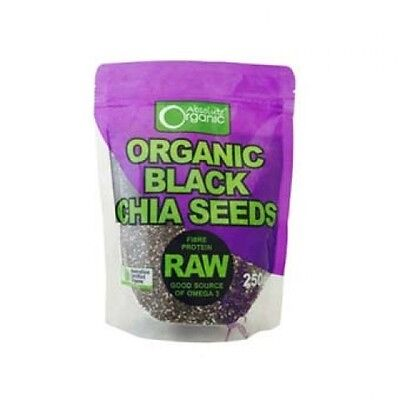 3 x Absolute Organic Chia Seeds 250g (750g)