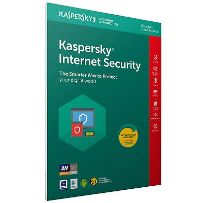 Kaspersky Internet Security 2018 1 Year Protection Antivirus For Up To 5 Devices