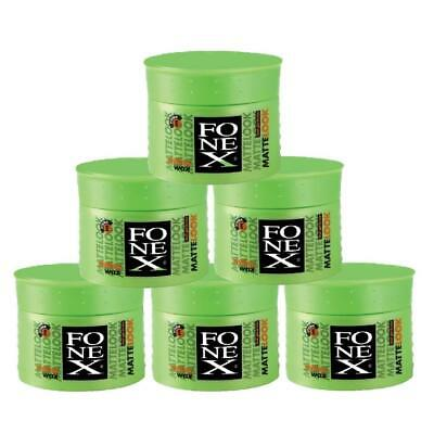 Fonex Styling Wax Matte Look 6er Set je 100ml (600ml) Haarwachs Haarwax
