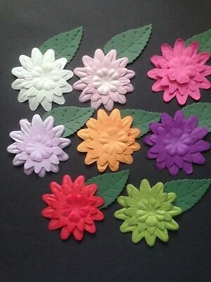 32 Pieces Coloured Flower Diecuts - Great for Cardmaking and Scrapbooking