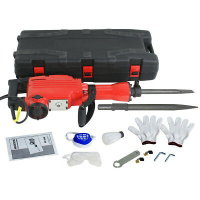 HD 2200Watt Electric Demolition Concrete Jack Hammer Breaker w/ Case New