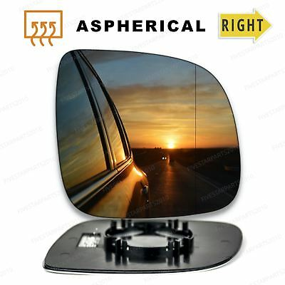 Right side wide angle heated mirror glass for Transporter T6 2015-On clip on