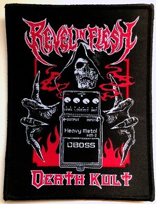 REVEL IN FLESH - Boss (Death Kult) - Woven Patch / Aufnäher
