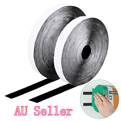 10M Hook and Loop Self Adhesive Tape Roll Tape Double Sided Reusable DIY 20mm