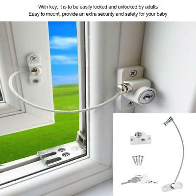Window Door Restrictor Child Baby Safety Security Lock Cable Catch Flexible Wire
