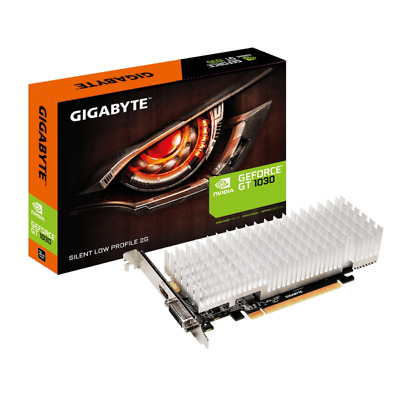 Gigabyte GeForce GT 1030 2GB GDDR5 DVI/HDMI Low Profile Grafikkarte passiv