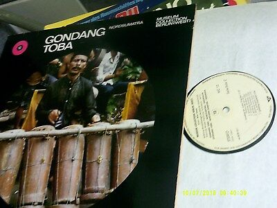 GONGDANG TOBA, Nordsumatra, Museum Collection Berlin, Doppel - LP, Beiheft