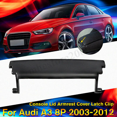 Console Center Armrest Cover Lid Latch Clip Black For Audi A3 8P 2003-2012