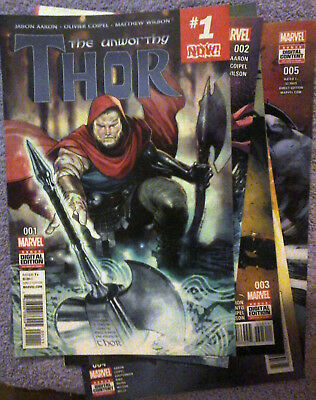 THE UNWORTHY THOR COMPLETE 5 ISSUE COLLECTION Jason Aaron, Feb 2017