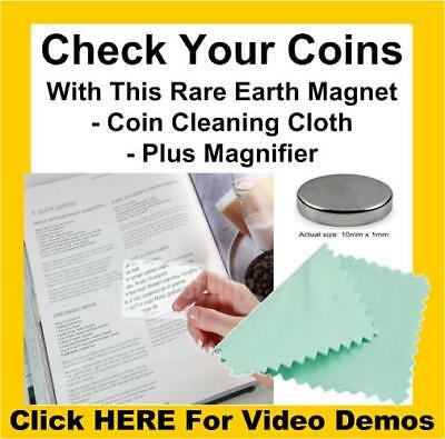 Rare Earth Neodymium Testing Magnet Pure/925/999 Silver Solid Gold Coins Tester