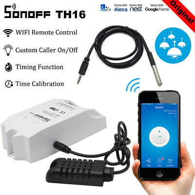 Sonoff TH16 10A/16A Temperature Humidity Monitoring WiFi Smart Switch Module GO1