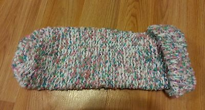 Cocoon knitted photography prop girl pastel teal pink green white