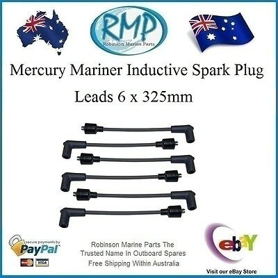 A Brand New x 6 Universal Spark Plug Leads Suits Many Mercury Mariner 325mm R