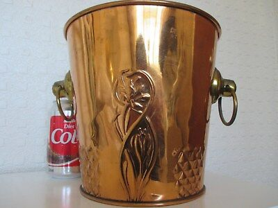 Fine German - Bavarian Stylised Copper Arts and Crafts Nouveau Ice Bucket - GBN