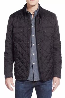 Barbour Men's Black Tinford Diamond Quilted Jacket Small NWOT