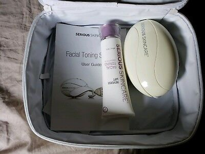 Serious Skincare Facial Toning System Used Once -Complete with DVD