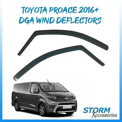 Toyota Proace 2016 Onwards DGA Wind Deflectors - Rain Shields/Visors - INTERNAL