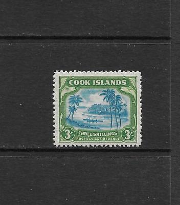 1944 KGVI SG145 3s. Blue & Green High Value MNH COOK ISLANDS