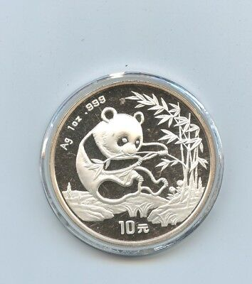 1994 China 1 Oz .999 Silver Panda 10 Yuan Coin UNC #13939