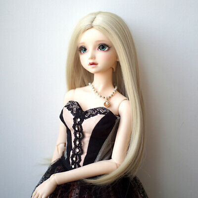 BJD Doll Full Wig 9-10 inch 22-24cm for DOD LUTS SD DZ Flaxen Straight Hair