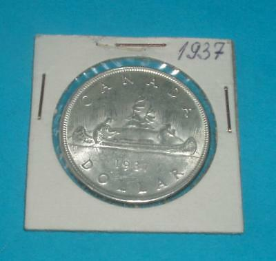 Canada 1937 George Vl Silver Dollar very nice   LOT 39