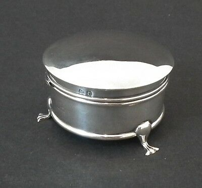 Nice Antique Solid Silver Dressing Table / Ring Box - A&j Zimmerman - B'ham 1916