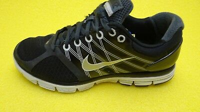 online store 7f930 95e03 NIKE LUNARGLIDE +2 Flywire Grey Black Running Shoes Sz 6.5Y