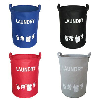 US Oxford-Cloth Laundry Washing Clothes Foldable Basket Bin Hamper Storage Bag