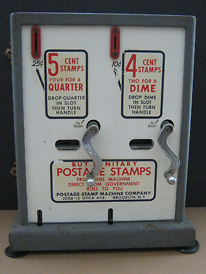 4c 5c POSTAGE STAMP VENDING MACHINE Co Post Office 1962