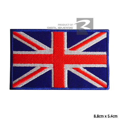 UK Union Jack Flag Iron On Sew On Embroidered Patch Badge For Clothes Bags etc