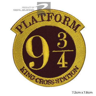 Platform 9 3/4 Iron Sew On Iron On  Embroidered Patch Badge Harry potter Comics
