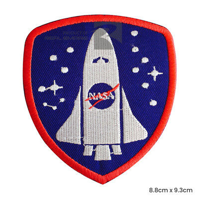 Nasa Space Ship Iron On Sew On Embroidered Patch Badge For Clothes Bags etc