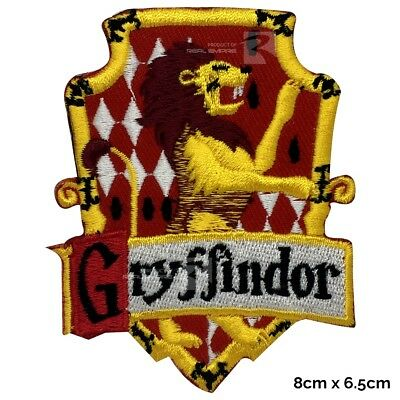 Harry Potter Gryffindor House Sew on/Iron on Embroidered Patch Badge