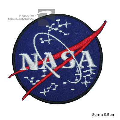 NASA USA Embroidered Iron On Patch / Sew On Badge For Clothes Bags Shoes etc