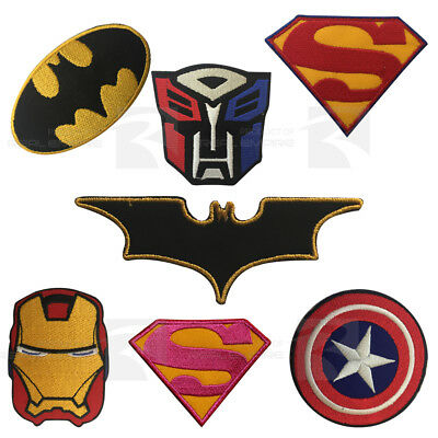Super Heroes Movies Comics Embroidered Iron on Sew on Patch Badge