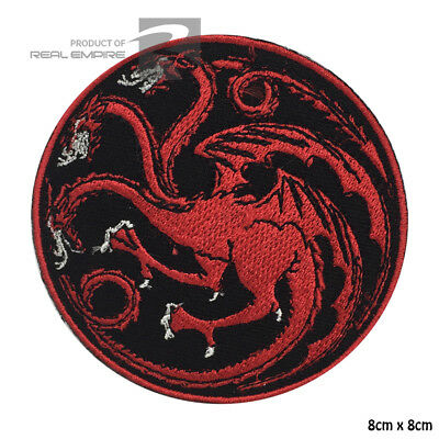 New Embroidered House Targaryen Dragons Sew on/Iron on Patch Game Of Thrones