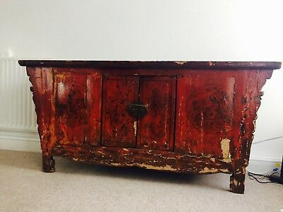 19th Century Chinese Antique Large Cabinet - Furniture Dining Living Sideboard