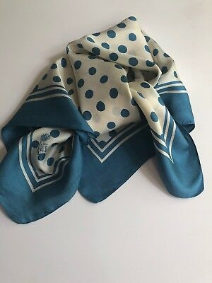 """Vintage Liberty Of London, 100% Silk Scarf, 23X23"""" Made in England,"""