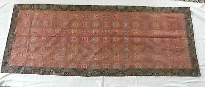 Tibetan/Chinese silk and gold woven textile panel