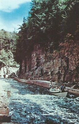 Ausable Chasm New York NY Boat Ride in the Rapids Vintage Postcard Chrome