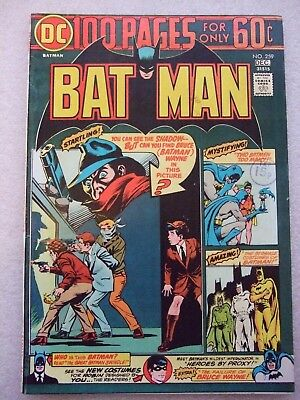 Batman # 259  100 page issue. Appearance of The Shadow.  VFN.