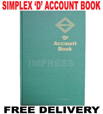 Simplex D Accounts FullYear Record Account Tax Account Book Business Record VAT
