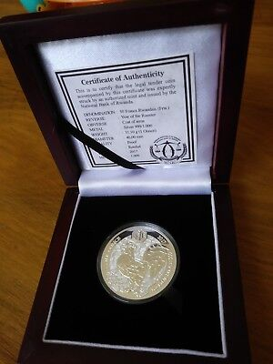 *2017 PROOF Rwanda Lunar Rooster 1oz Silver 999 Coin - Only 1k Minted*