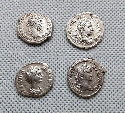 LOT of 4 Ancient Roman Silver Denarius Coins.