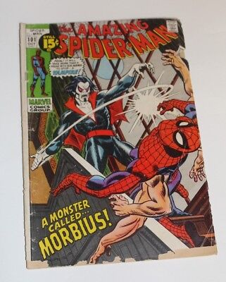 The Amazing Spider-Man #101 (Oct 1971, Marvel). First Morbius !