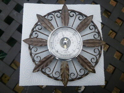 S & B * WROUGHT IRON  BAROMETER * LOVELY CONDITION * COLLECTABLE * only £3.99
